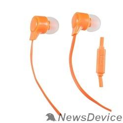 Наушники Perfeo наушники внутриканальные c микрофоном HANDY оранжевые PF-HND-ORG