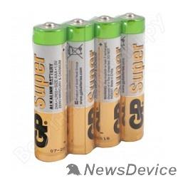 Батарейка GP Super Alkaline 24ARS (в спайке) LR03,  4 шт AAA (4шт. в уп-ке)