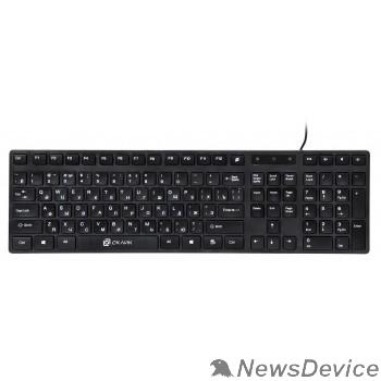 Клавиатура Клавиатура Oklick 556S черный USB slim Multimedia 335972
