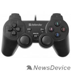 Геймпад DEFENDER Omega USB, Проводной геймпад, 12 кнопок, 2 стика 64247