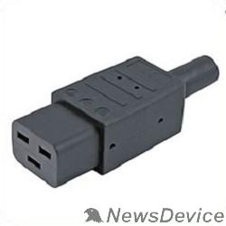Монтажное оборудование Hyperline CON-IEC320C19 Разъем IEC 60320 C19 220В 16A на кабель, контакты на винтах (плоские контакты внутри разъема), прямой