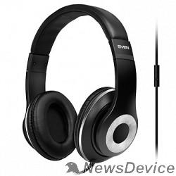 Наушники SVEN AP-930M черный-серебро Разъем 3,5 мм, Поддержка функций управления плеером, Поддержка функции hands-free, Микрофон на кабеле, Улучшенная система передачи звука