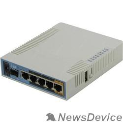 Сетевое оборудование MikroTik RB962UiGS-5HacT2HnT Беспроводной маршрутизатор  hAP ac 2.4+5ГГц, 802.11a/b/g/n/ac, 5x Ethernet 1G, 1x SFP