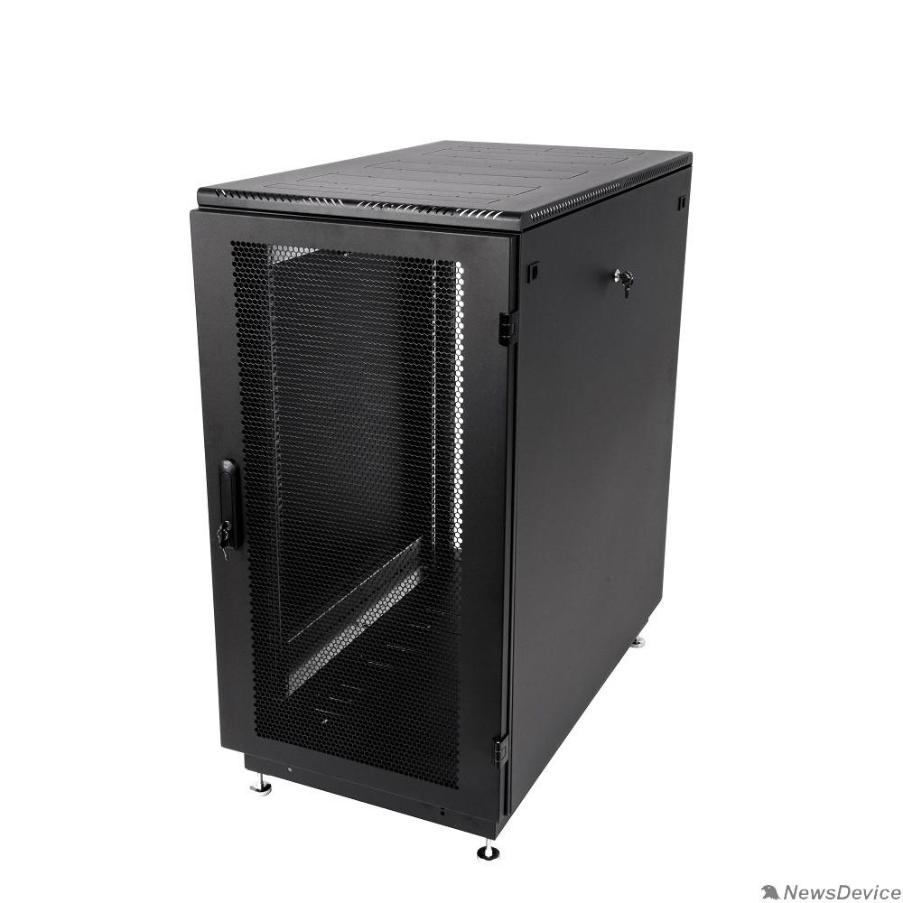 Монтажное оборудование ЦМО Шкаф телекоммуникационный напольный 27U (600x1000) дверь перфорированная 2 шт., цвет чёрный (ШТК-М-27.6.10-44АА-9005)