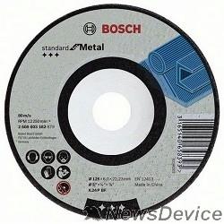Bosch Bosch 2608603183 Обдирочный круг Standard по металлу 180х6мм SfM, вогнутый