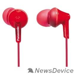 Наушники Panasonic RP-HJE125E-R вкладыши канальные, красные