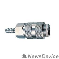 Пневматическое оборудование FUBAG Разъемное соединение рапид 180120 елочка 6мм с обжимным кольцом 6х11мм