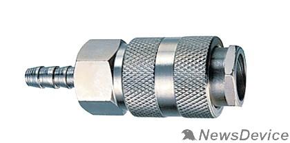 Пневматическое оборудование FUBAG Разъемное соединение рапид 180121 елочка 8мм с обжимным кольцом 8х13мм