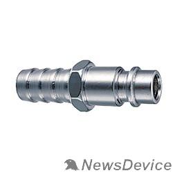 Пневматическое оборудование FUBAG Разъемное соединение рапид (штуцер) 180160 B елочка 6мм с обжимным кольцом 6х11мм блистер