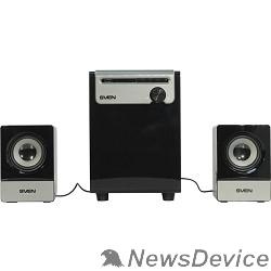Колонки SVEN MS-110 черный Воспроизведение музыки с USB flash и SD card памяти