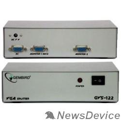Разветвитель GVS122  Разветвитель сигнала VGA на 2 монитора (Gembird)