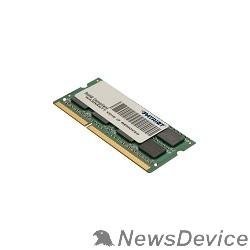Модуль памяти Patriot DDR3 SODIMM 4GB PSD34G1600L81S (PC3-12800, 1600MHz, 1.35V)