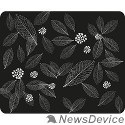 Коврики Dialog PM-H15 leafs черный с рисунком листьев,Коврик для мыши - размер 220x180x3 мм
