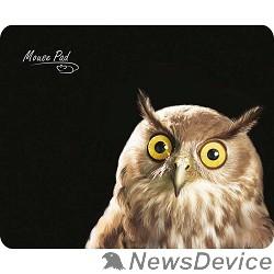Коврики Dialog PM-H15 owl черный с рисунком совы, Коврик для мыши - размер 220x180x3 мм