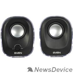 Колонки SVEN 330, чёрный (5 Вт, питание USB, подсветка)