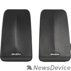 Колонки SVEN 380, чёрный (6 Вт, питание USB, пассивный излучатель)