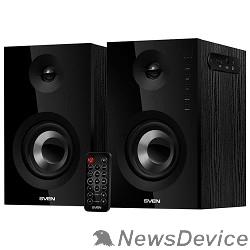 Колонки SVEN SPS-721 чёрный акустическая система 2.0, мощность 2x25 Вт (RMS), USD/SD, пульт ДУ, Bluetooth