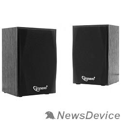 Колонки Акустич. система 2.0 Gembird SPK-201 МДФ, черный ,2х2,5 Вт,USB-питание