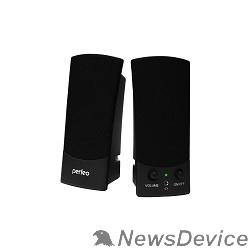 """Колонки Perfeo колонки """"UNO"""" 2.0, мощность 2х0,5 Вт (RMS), чёрн, USB  (PF-210)"""