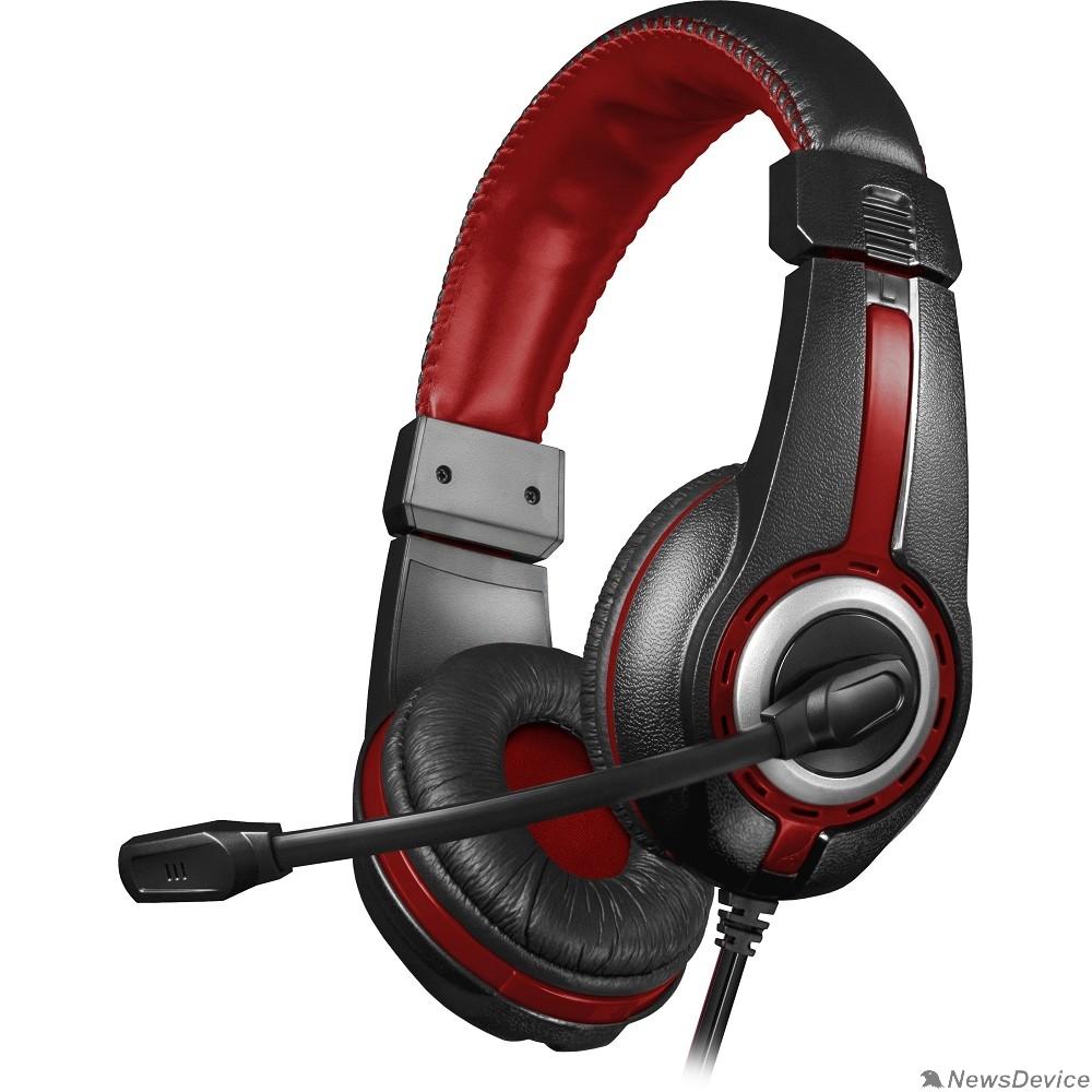 Наушники Defender Warhead G-185 черный + красный, кабель 2 м  64106