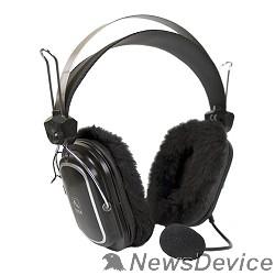 Наушники A4Tech HS-60 с микрофоном, 2.5м мониторы, черный