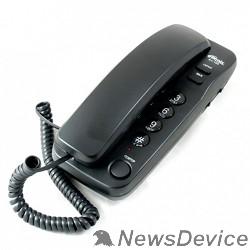 Телефон RITMIX RT-100 black проводной телефон повторный набор номера, настенная установка, кнопка выключения микрофона, регулятор громкости звонка