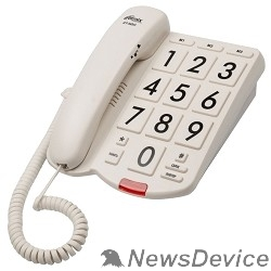 Телефон RITMIX RT-520 ivory Телефон проводнойповтор. набор, регулировка уровня громкости, световая индикац