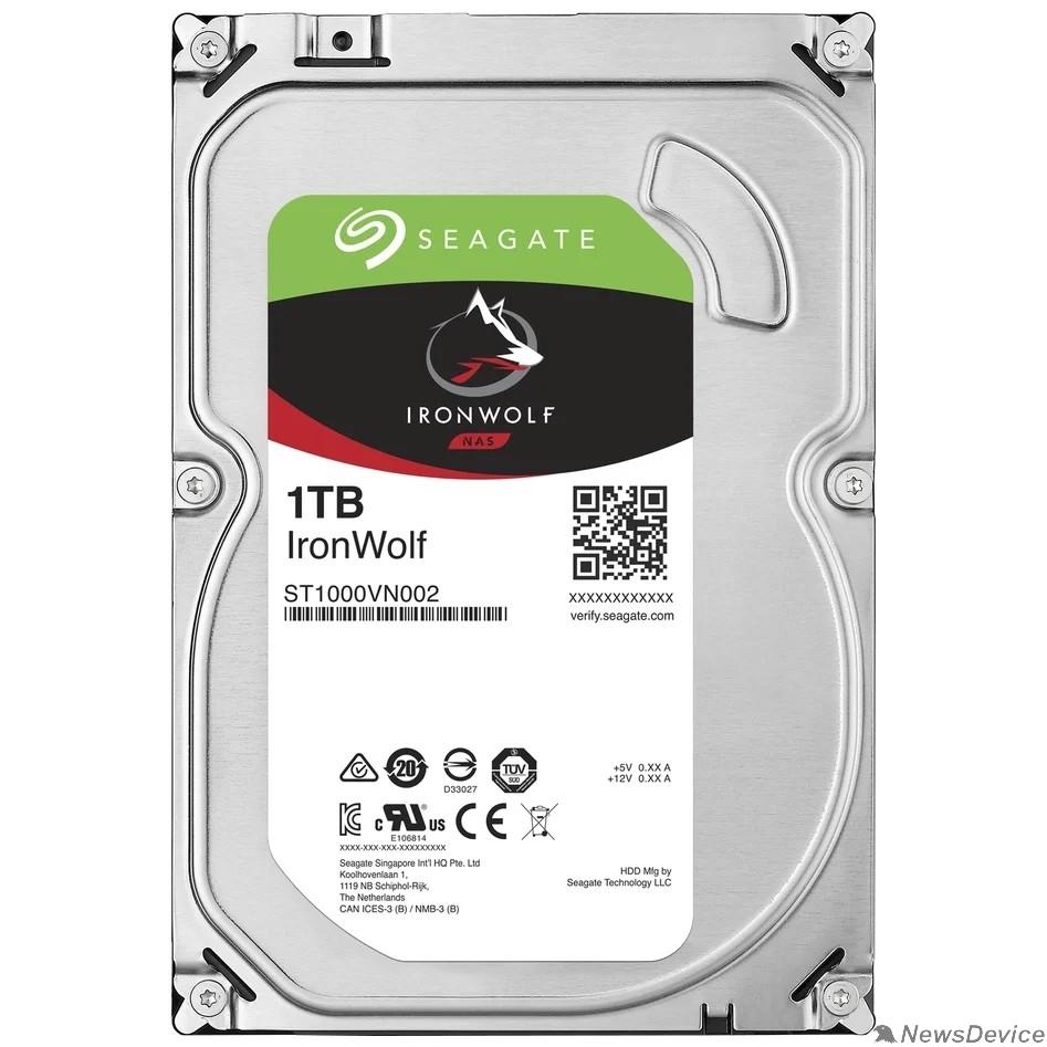 "Жесткий диск 1TB Seagate Ironwolf (ST1000VN002) SATA 6.0Gb/s, 5900 rpm, 64mb buffer, 3.5"", для NAS"