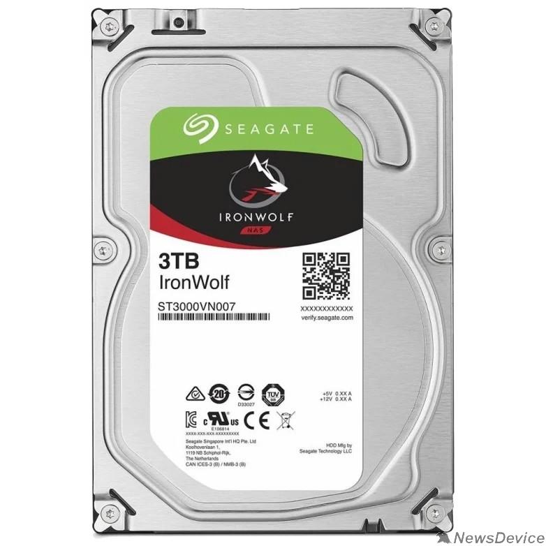 "Жесткий диск 3TB Seagate Ironwolf (ST3000VN007) SATA 6.0Gb/s, 5900 rpm, 64mb buffer, 3.5"",для NAS"