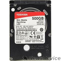 "Жесткий диск 500Gb Toshiba L200 Slim (HDWK105UZSVA) SATA 3, 5400 rpm, 8Mb, 2.5"", 7.5 mm"