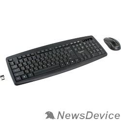 Клавиатура Клавиатура + мышь Gembird KBS-8000 черный USB Клавиатура+мышь беспроводная 2.4ГГц/10м, 1600DPI,  мини-приемник