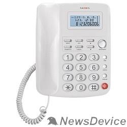 Телефон TEXET TX-250 белый Автоответчик: нет. Дисплей: есть. Органайзер: часы. Память (количество номеров): нет. Память набранных номеров: 9. Однокнопочный набор (количество кнопок): 1.