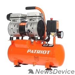 Компрессоры, Пневматическое оборудование PATRIOT WO 10-120 Компрессор 525306370 Безмасляный; Мощн.: 0,65 кВт; Напр.230В.Об. дв.: 2850 об/мин; Производ.: 120 л/мин; Объем ресивера: 10 л; Давление: 8 бар