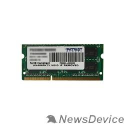 Модуль памяти Patriot DDR3 SODIMM 8GB PSD38G16002S (PC3-12800, 1600MHz, 1.5V)