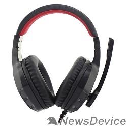 Наушники и микрофоны Oklick HS-L320G черный/красный1.9м мониторы оголовье (NO-3000) 359482