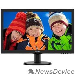"""Монитор LCD PHILIPS 23.6"""" 243V5QHSBA (00/01) черный VA LED 1920x1080 8ms 16:9 250cd 178гр/178гр D-Sub DVI HDMI"""