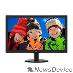 "Монитор LCD PHILIPS 23.6"" 243V5QHABA (00/01) черный MVA 1920x1080 8ms 178/178 250cd 10M:1 D-Sub DVI HDMI 2x2W"