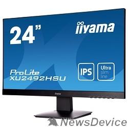 """Монитор IIYAMA 23.8"""" XU2492HSU-B1 (A)черный IPS LED 1920x1080 5ms 16:9 250cd 178гр/178гр D-Sub HDMI DisplayPort 2Wx2"""