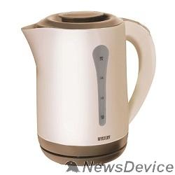 Чайник MYSTERY MEK-1638 Чайник, Мощность: 1800 Вт, Объём: 2,5 л, Цвет: Бежевый/Коричневый