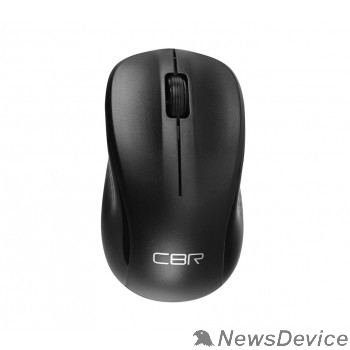 Мышь CBR CM 410 Black, Мышь беспроводная, оптическая, 2,4 ГГц, 1000 dpi, 3 кнопки и колесо прокрутки, выключатель питания, цвет чёрный