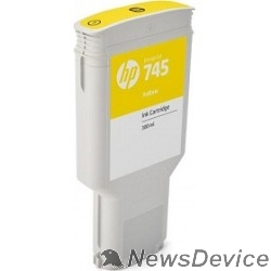 Расходные материалы HP F9K02A Картридж №745, Yellow HP Designjet (300ml)