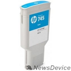 Расходные материалы HP F9K03A Картридж №745, Cyan Designjet, (300ml) - фото 522966