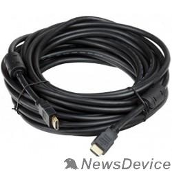 Кабель AOpen/Qust Кабель HDMI 19M/M+2 фильтра 1.4V+3D/Ethernet (ACG511D-10M) 10m, позолоченные контакты 6938510810454 / 6938510810458