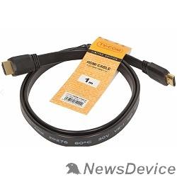 Кабель TV-COM Кабель цифровой (CG200F-1M) HDMI 19M/M 1.4V  плоский 1m