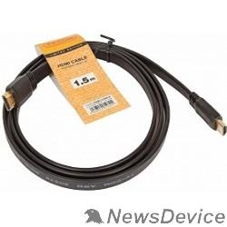 Кабель TV-COM Кабель цифровой (CG200F-1.5M) HDMI TV-COM 19M/M 1.4V  плоский 1.5m черный