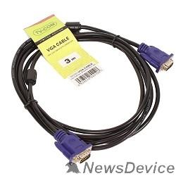 Кабель TV-COM Кабель соединительный (QCG120H-3M) SVGA (15M/M) 3m 2 фильтра 6939510844108
