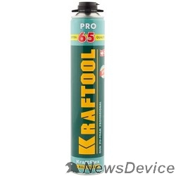 Пена монтажная KRAFTOOL Пена Goldkraft GOLD PRO 65 профессиональная, монтажная, пистолетная, всесезонная, 850мл 41194