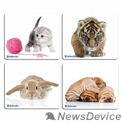 Коврики Defender Коврик для мыши Silk, шелковый, 230х190х3, 10 видов 50706
