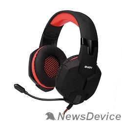 Наушники SVEN AP-G988MV черно-красный с полноразмерными наушниками закрытого типа, встроенный регулятор громкости, подключение: 2 x mini jack 3.5 mm, частота воспроизведения 20-20000 Гц