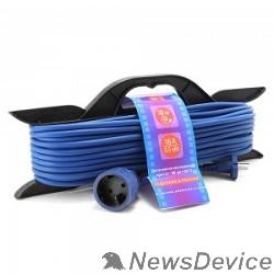 Сетевые фильтры PowerCube Шнур-удлинитель (PC-B1-F-30-R) 16А/3,5 кВт, 1 розетка, 30м, морозостойкий, на рамке